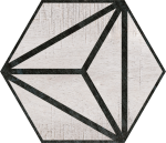 Codicer Hex Tribeca Grey Hexagonal 25x22 gres matowy
