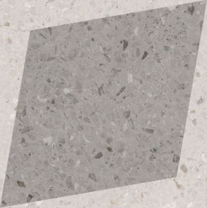 WOW Rhombus Decor Grey 18,5x18,5 płytka gresowa