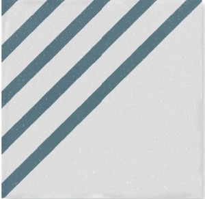WOW Boreal Dash Decor White Blue 18,5x18,5 płytka gresowa