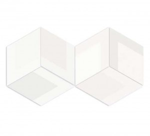 WOW Flow Diamond Decor White 14x24 płytka gresowa