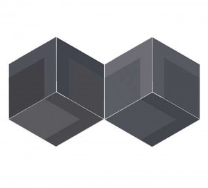 WOW Flow Diamond Decor Black 14x24 płytka gresowa