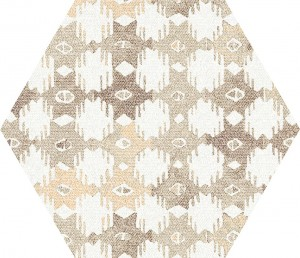 Aparici Tex Ivory Pattern Hexagon Natural 25x29 płytka heksagonalna patchwork