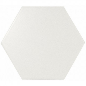 Equipe Scale Hexagon White Matt 12,4x10,7 płytka ścienna