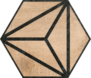 Codicer Hex Tribeca Brown Hexagonal 25x22 gres matowy