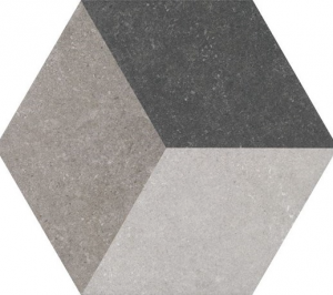 Codicer Traffic 3D Grey Hex 25x22 płytka gresowa