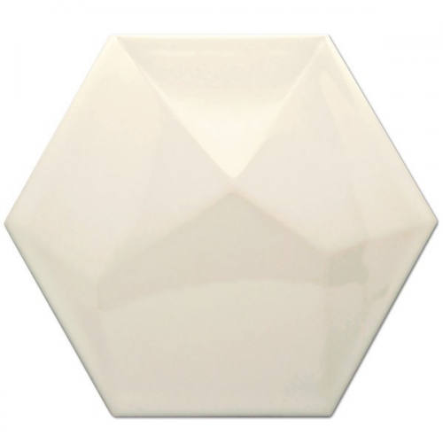 Heksagon Piramidal Crema Brillo 17x15