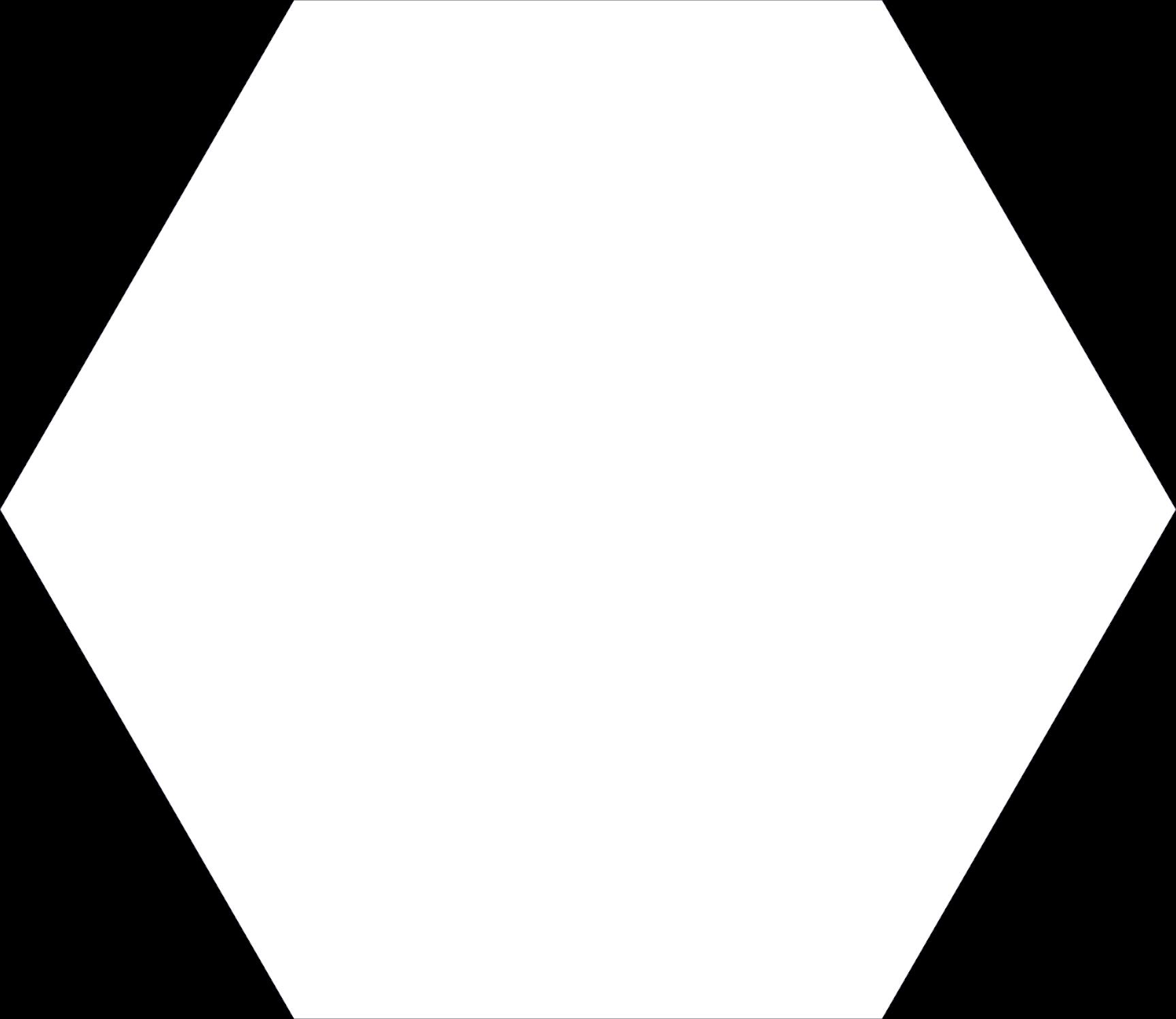 Keros Element Blanco 23x27 płytka heksagonalna