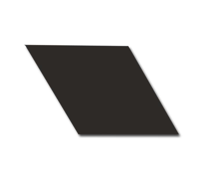 Equipe Rhombus Black Smooth 14x24 płytka gresowa